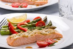 Rosemary Roasted Salmon Royalty Free Stock Images