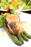 Rosemary roasted salmon Stock Photo