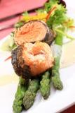 Rosemary a rôti des saumons Photographie stock libre de droits