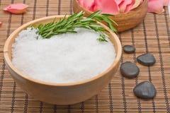 Rosemary and salt aromatherapy Stock Photos