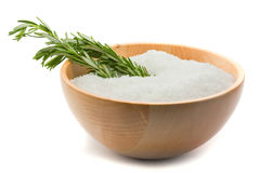 Rosemary and salt aromatherapy Royalty Free Stock Photography