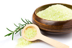 Rosemary salt theraphy Royalty Free Stock Image