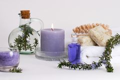 Rosemary spa set Royalty Free Stock Photo