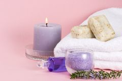 Rosemary spa set Royalty Free Stock Images