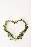 Rosemary sprigs heart Stock Photo