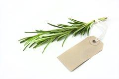 Rosemary and tag Stock Photo