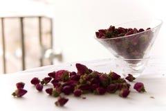 Rosemary tea leaves. Rosemary Tea on white background Royalty Free Stock Photo