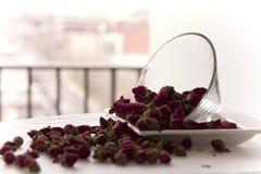 Rosemary tea leaves. Rosemary Tea on white background Royalty Free Stock Images