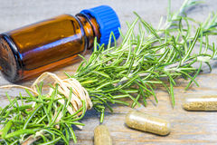 Rosemary with tincture Royalty Free Stock Photo