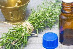 Rosemary with tincture Stock Image