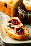 Rosemary Tomato Parmesan Bread Stijlplattelander stock afbeelding