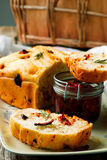Rosemary Tomato Parmesan Bread Stijlplattelander royalty-vrije stock foto's