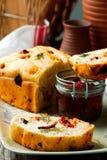Rosemary Tomato Parmesan Bread .style rustic Stock Photo