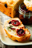 Rosemary Tomato Parmesan Bread .style rustic Stock Image