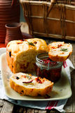 Rosemary Tomato Parmesan Bread .style rustic Stock Images