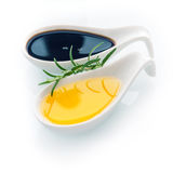 Rosemary with virgin olive oil Stock Photo