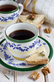 Rosemary and walnuts shortbread Stock Images