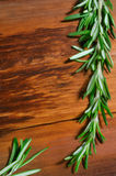 Rosemary  on wooden background Stock Photo