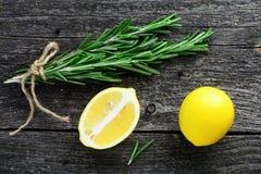 Rosemary y limón Foto de archivo libre de regalías
