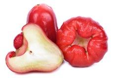 Rosen-Apfel lokalisiert auf weißem Hintergrund lizenzfreie stockfotos