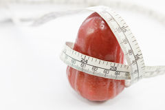 Rosen-Apfeldiätkonzept Stockfoto