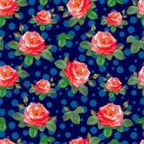 Rosen auf einem dunkelblauen Hintergrund Stockfotografie
