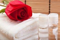 Rosen-Auszug für aromatherapy Stockbild