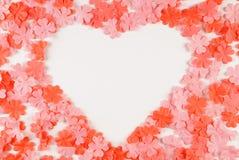 Rosen-Badblumenblätter für Valentinstag Lizenzfreies Stockfoto