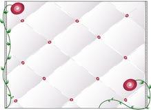 Rosen-Bett-Hintergrund Stockfoto