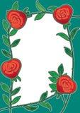 Rosen-Blumen-Feld-Karte Lizenzfreie Stockbilder