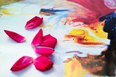 Rosen-Blumenblätter Stockfotos