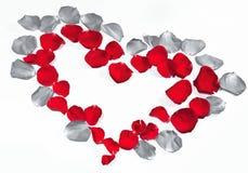 Rosen-Blumenblattinneres Stockbild