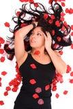 Rosen-Blumenblattschönheit Stockfoto