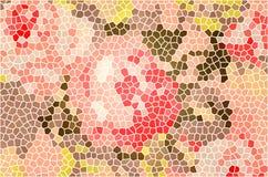 Rosen-Blumenbuntglas Stockfoto