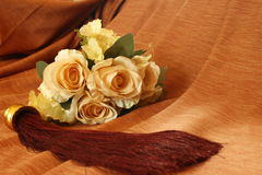 Rosen-Blumenstrauß mit Quaste Stockbild