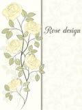Rosen-Designkarte stock abbildung