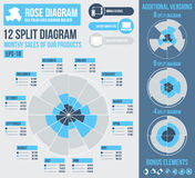 Rosen-Diagrammerbauer infographics Lizenzfreies Stockbild