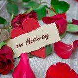 Rosen für Muttertag Stockbild