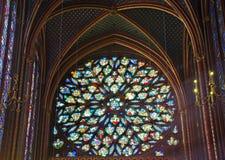 Rosen-Fenster des Sainte Chapelle, Lizenzfreies Stockfoto