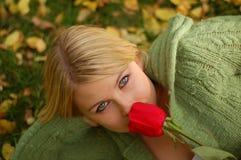 Rosen-Frau Lizenzfreies Stockfoto