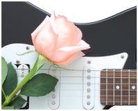 Rosen-Gitarre Lizenzfreie Stockfotos
