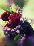 Rosen-Hintergrundblütenblume lizenzfreie stockfotos