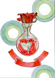 Rosen i en kulavas vektor illustrationer