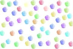 Rosen-Ikonenblumenfarbe mit Isolat Stockfotos