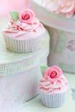 Rosen-kleine Kuchen Stockfotografie
