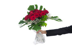Rosen lokalisiert auf dem weißen Hintergrund Lizenzfreies Stockbild