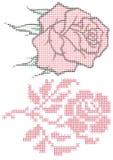 Rosen mit Punkten vektor abbildung