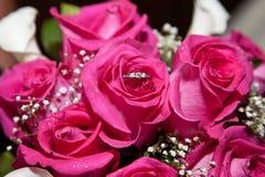 Rosen mit Ring stockbilder