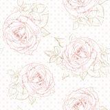 Rosen-Muster mit Tupfen Stockbilder