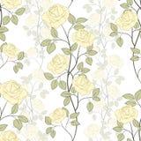 Rosen-nahtloses Muster lizenzfreie abbildung